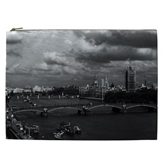 Vintage UK England London The River Thames 1970 Cosmetic Bag (XXL)