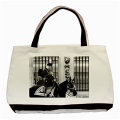 Vintage UK England  queen Elizabeth 2 Buckingham Palace Twin-sided Black Tote Bag