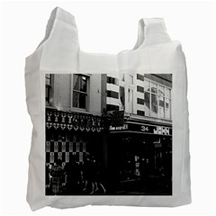 Vintage UK England London shops Carnaby street 1970 Single-sided Reusable Shopping Bag