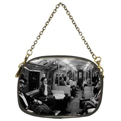 Vintage UK  England railway inside coach 1970 Single-sided Evening Purse