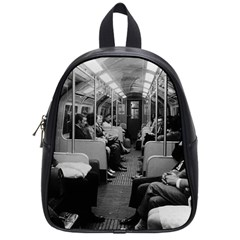 Vintage UK  England railway inside coach 1970 Small School Backpack