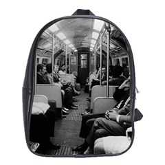 Vintage UK  England railway inside coach 1970 School Bag (XL)
