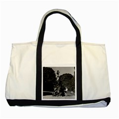 Vintage UK  England London Peter Pan statue Kensington Two Toned Tote Bag