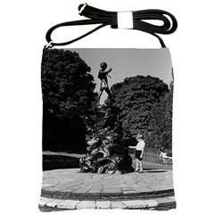 Vintage UK  England London Peter Pan statue Kensington Cross Shoulder Sling Bag