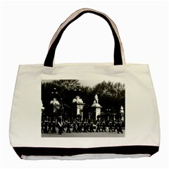Vintage England London Changing Guard Buckingham Palace Twin Sided Black Tote Bag