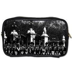 Vintage England London Changing Guard Buckingham Palace Twin Sided Personal Care Bag