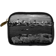 Vintage UK England river thames London skyline city Compact Camera Case