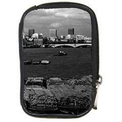 Vintage UK England river thames London skyline city Digital Camera Case