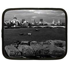 Vintage UK England river thames London skyline city 13  Netbook Case