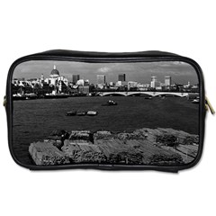 Vintage UK England river thames London skyline city Twin-sided Personal Care Bag
