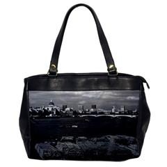 Vintage Uk England River Thames London Skyline City Single Sided Oversized Handbag