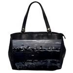 Vintage UK England river thames London skyline city Single-sided Oversized Handbag Front