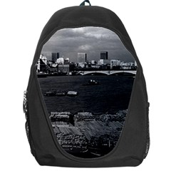 Vintage UK England river thames London skyline city Backpack Bag