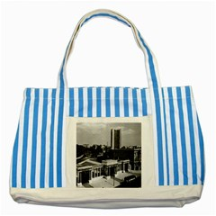 Vintage UK England London Hyde park corner Hilton 1970 Blue Striped Tote Bag