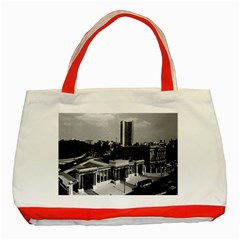 Vintage UK England London Hyde park corner Hilton 1970 Red Tote Bag
