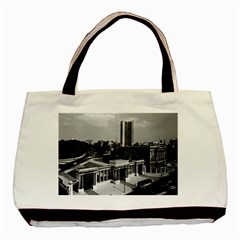 Vintage Uk England London Hyde Park Corner Hilton 1970 Twin Sided Black Tote Bag