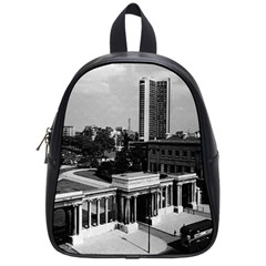 Vintage Uk England London Hyde Park Corner Hilton 1970 Small School Backpack