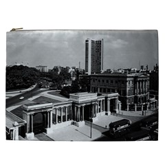 Vintage Uk England London Hyde Park Corner Hilton 1970 Cosmetic Bag (xxl)