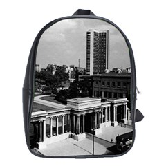 Vintage UK England London Hyde park corner Hilton 1970 School Bag (XL)