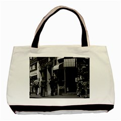 Vintage UK England London Shops Carnaby street 1970 Twin-sided Black Tote Bag