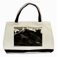 Vintage USA Alaska Mt Mckinley national park 1970 Twin-sided Black Tote Bag