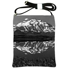 Vintage Usa Alaska Magnificent Mt Mckinley 1970 Cross Shoulder Sling Bag