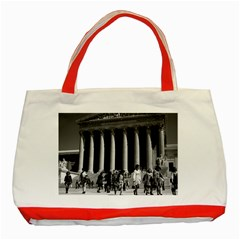 Vintage USA Washington Memorial Lincoln 1970 Red Tote Bag