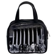 Vintage Usa Washington Memorial Lincoln 1970 Twin Sided Satchel Handbag