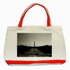 Vintage USA Washington Monument 1970 Red Tote Bag