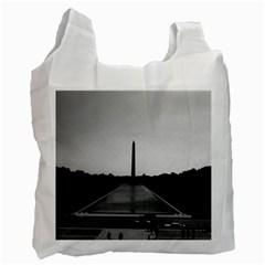 Vintage USA Washington Monument 1970 Twin-sided Reusable Shopping Bag