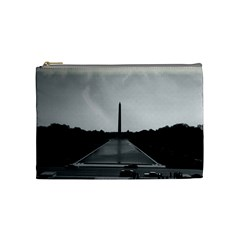 Vintage USA Washington Monument 1970 Medium Makeup Purse