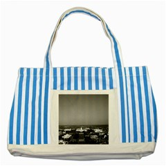 Vintage USA Washington Capitol overview 1970 Blue Striped Tote Bag