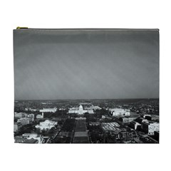 Vintage Usa Washington Capitol Overview 1970 Extra Large Makeup Purse