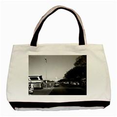 Vintage Usa Washington The Capitol 1970 Twin Sided Black Tote Bag