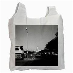 Vintage USA Washington The Capitol 1970 Single-sided Reusable Shopping Bag