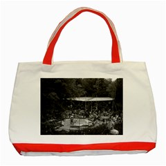 Vintage USA California Disneyland Indian village 1970 Red Tote Bag