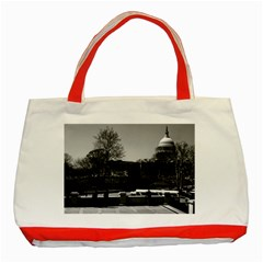 Vintage USA Washington The Capitol 1970 Red Tote Bag