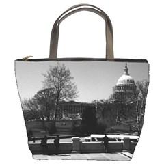 Vintage Usa Washington The Capitol 1970 Bucket Handbag
