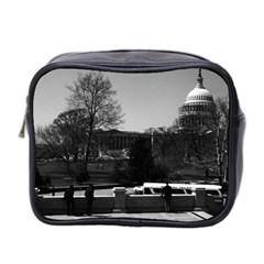 Vintage Usa Washington The Capitol 1970 Twin Sided Cosmetic Case