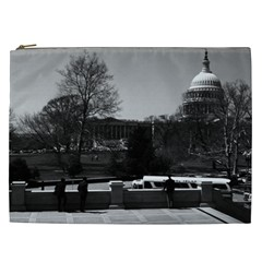 Vintage USA Washington The Capitol 1970 Cosmetic Bag (XXL)