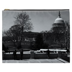 Vintage Usa Washington The Capitol 1970 Cosmetic Bag (xxxl)