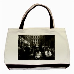 Vintage USA New York Rockefeller Center 1970 Black Tote Bag