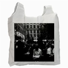 Vintage USA New York Rockefeller Center 1970 Single-sided Reusable Shopping Bag