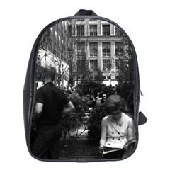 Vintage USA New York Rockefeller Center 1970 Large School Backpack