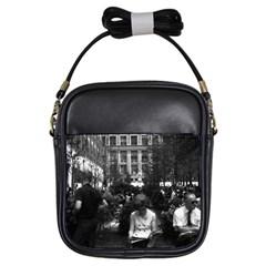 Vintage USA New York Rockefeller Center 1970 Kids  Sling Bag