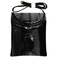 Vintage USA New York rockefeller center Atlas statue Cross Shoulder Sling Bag