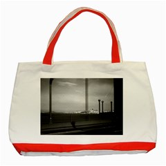 Vintage USA California San Francisco Golden Gate Bridge Red Tote Bag