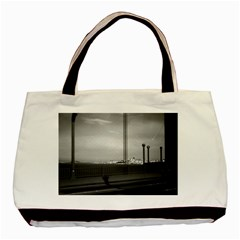 Vintage USA California San Francisco Golden Gate Bridge Twin-sided Black Tote Bag