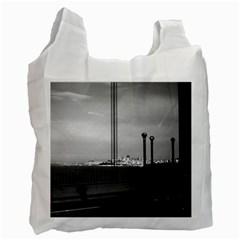 Vintage Usa California San Francisco Golden Gate Bridge Single Sided Reusable Shopping Bag