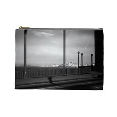 Vintage USA California San Francisco Golden Gate Bridge Large Makeup Purse